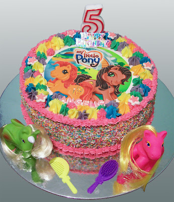 My Little Pony Birthday Cake Rosettes And Ruffles Easy Diy