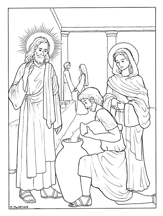 luminous mysteries coloring pages - photo#3