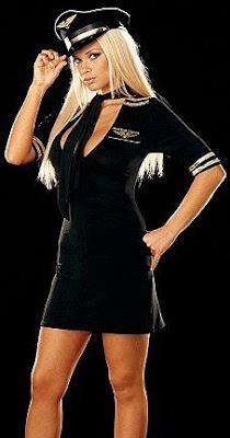 disfraz piloto mujer