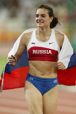 atletas guapas Yelena Isinbayeva