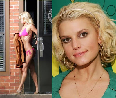 celebrity hairstyles Jessica Simpson short blonde bob