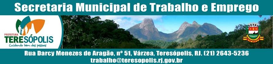 Blog da Secretaria Municipal de Trabalho e Emprego de Teresópolis