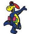 Dino, a mascota da nosa biblioteca