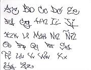. 2010. - Graffitis  ii abajo Letras aprende ii lo habras cosas asii . abc graffiti