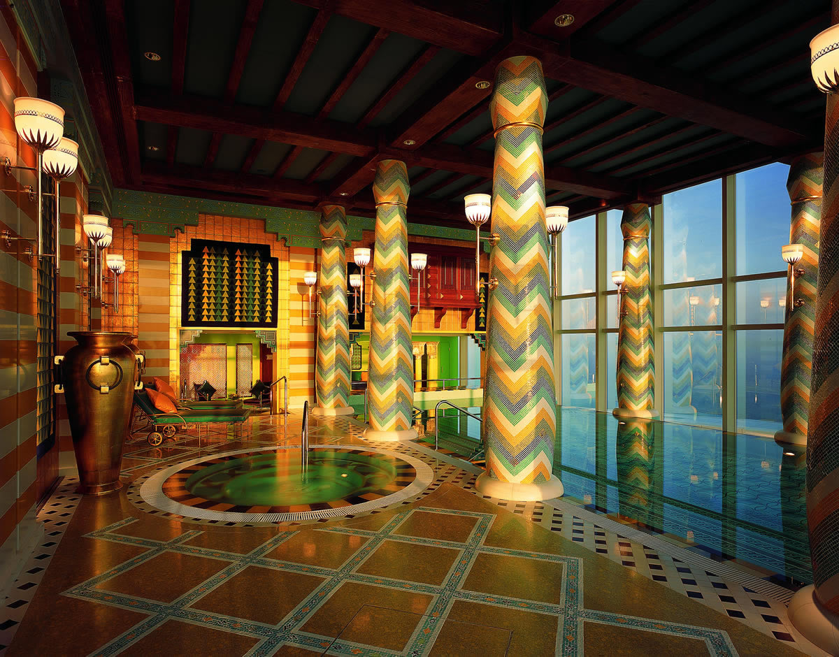 World 39 s luxurious burj al arab world 39 s most luxurious hotel for Pool house interior