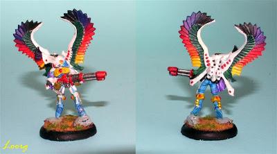 Exarca de los halcones cazadores de los Eldar de Warhammer 40000