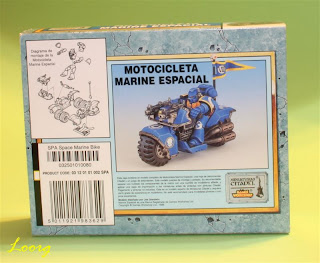 Contraportada de la Caja de las Motocicleta de los marines espaciales