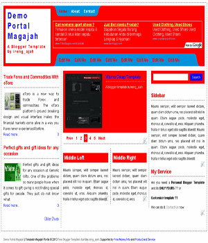 free blogger template magazine style with automatic image slider
