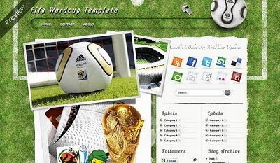 FIFA World Cup blogger template for blogger who like football