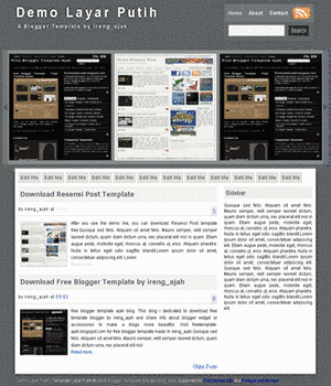 Free Blogger Template Layer Blue