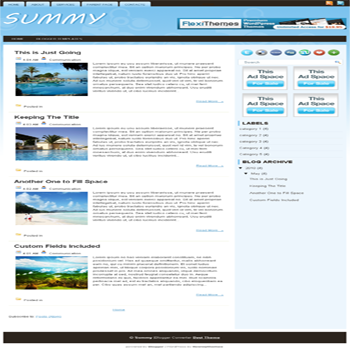 free blogger template convert from wordpress theme to blogger with blue and white color