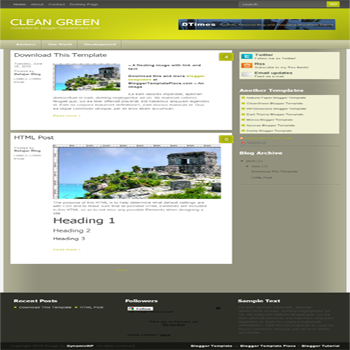 free blogger template convert from wordpress theme to blogger Clean Green template