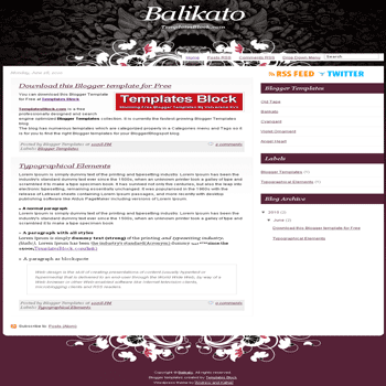 free blogger template convert wordpress theme to blogger Balikato blogger template