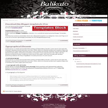 free blogger template convert wordpress theme to blogger Balikato blogger template