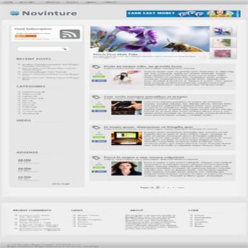 free blogger template convert WordPress to Blogger Novinture blogger template