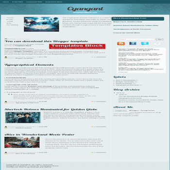 free blogger template convert wordpress theme to blogger Cyangant blogger template