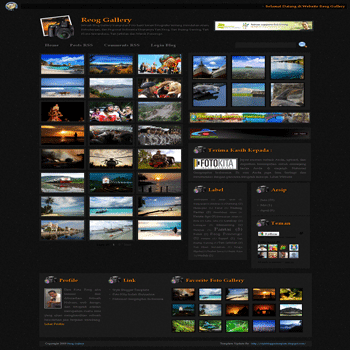 free blogger template gallery photo