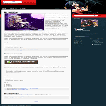 free blogger template AnimePlanet blogspot template
