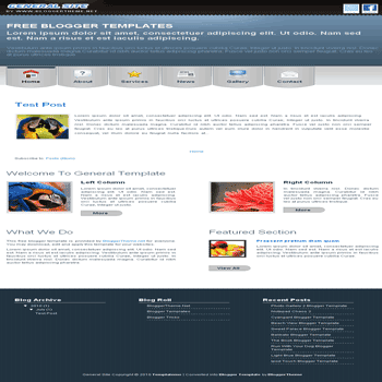free blogger template convert css theme to blogger General Site blogger template