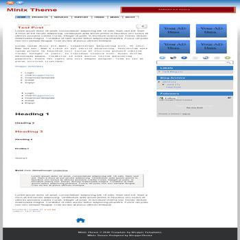 free blogger template Minix Theme blogger template