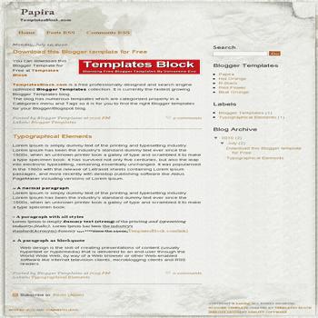free blogger template convert website template to blogger Papira blogger template