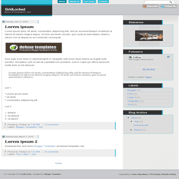 free blogger template GridLocked blogspot template