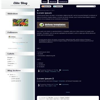 free blogger template Elite Blog blogspot template