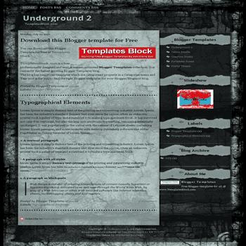 free blogger template convert website template to blogger Underground 2 blogger template