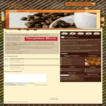 free blogger template convert website template to blogger Caffeine blogger template