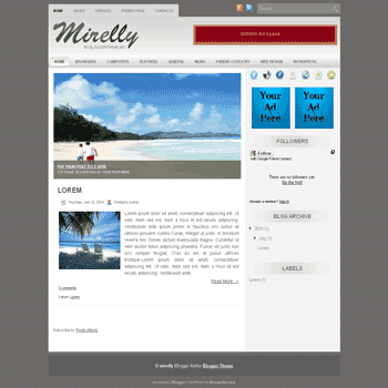 free blogger template convert wordpress theme to blogger template Mirelly blogger template