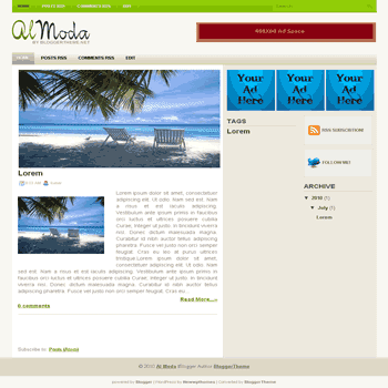 free blogger template convert wordpress theme to blogger template Al Moda blogger template