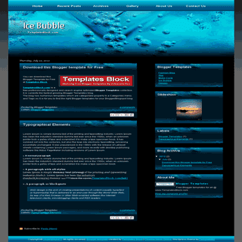 free blogger template convert css template to blogger Ice Bubble blogger template