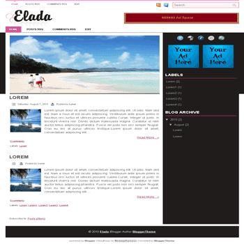 Elda free blogger template convert wordpress theme to blogger template with image slideshow blogger template
