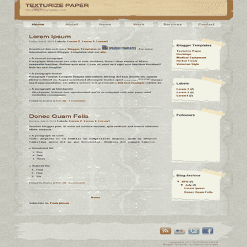 free blogger template Texturize Paper blogger template