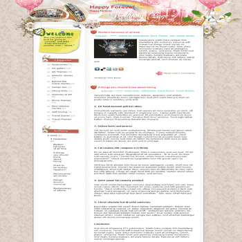 free blogger template convert wordpress theme to blogger template Happy Forever blogger template