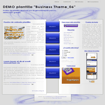 Business Theme_06 free blogger template with 3 column Blogger Template