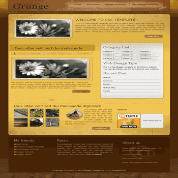 Grunge free blogger template converted from css template to blogger template with grunge style blogger template