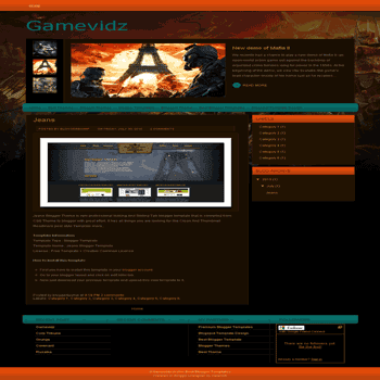 Gamevidz free games blogger template converted from wordpress theme to blogger template image slideshow blogger template