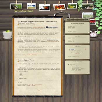 Wooden Shed free blogger template for nature blogger template