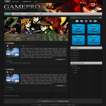 Game Pro Blogger Template | DheTemplate