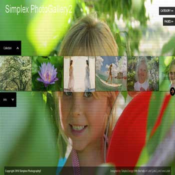 free blogger template Simplex Photography 2 for blogger template photography