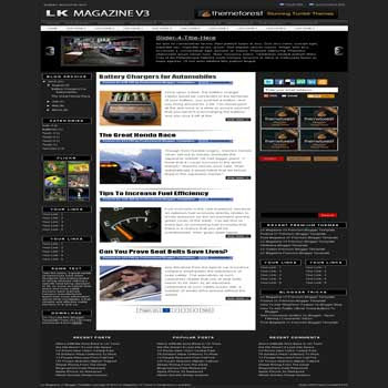 free blogger template LK Magazine v3 magazine style blogger template with 3 column footer, pagination for blogger and slideshow content blogger template blogger template