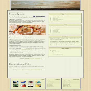 free blogger template Canvas Prints with 3 column footer blogger template