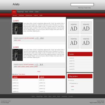 Aristo blogger template convert wordpress theme to blogger template with drop down menu template