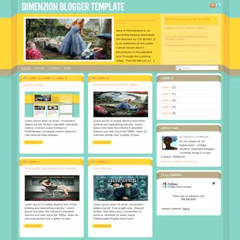 Dimenzion magazine style blogger template converterd from wordpress theme to blogger template