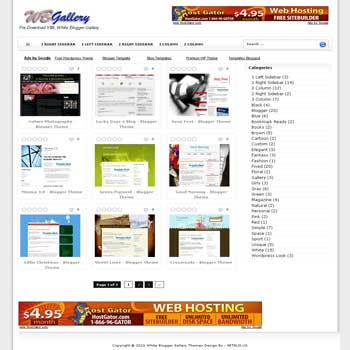 WB Gallery blogger template for gallery and photo blog template