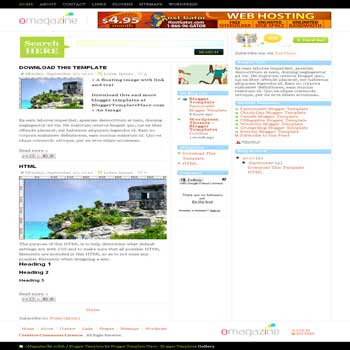 free omagazine blogger template convert from wordpress theme to blogger template