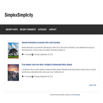 free Simplex Simplicity blogger template with 1 column blogger template