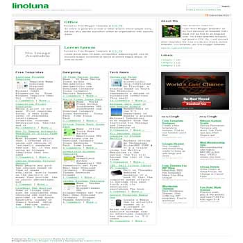free linoluna blogger template convert WordPress to Blogger template with 3 column blogger template
