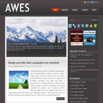 free blogger template awes blogger template with image slideshow template and pagination for blogger ready